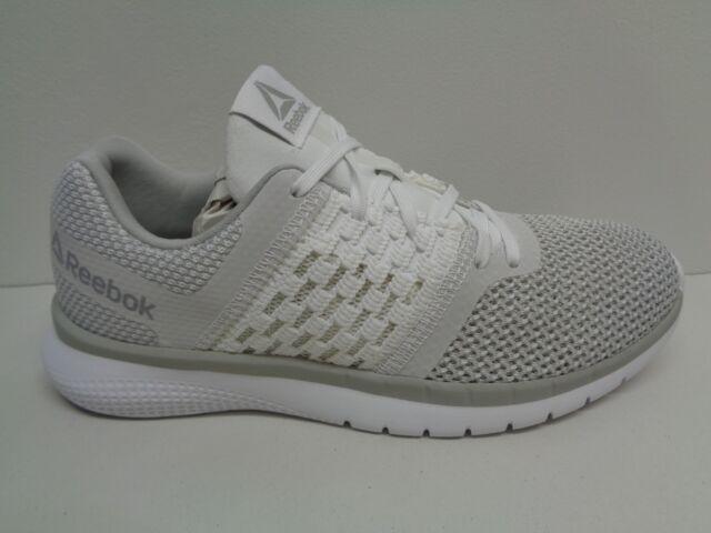 Reebok PT Prime Runner White Steel Running SNEAKERS Womens Shoes 9