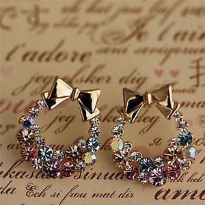 1Pair-Women-Lady-Elegant-Crystal-Rhinestone-Fashion-Ear-Stud-Earrings-Jewelry