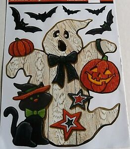 HALLOWEEN-Window-Clings-GHOST-WITH-BLACK-CAT