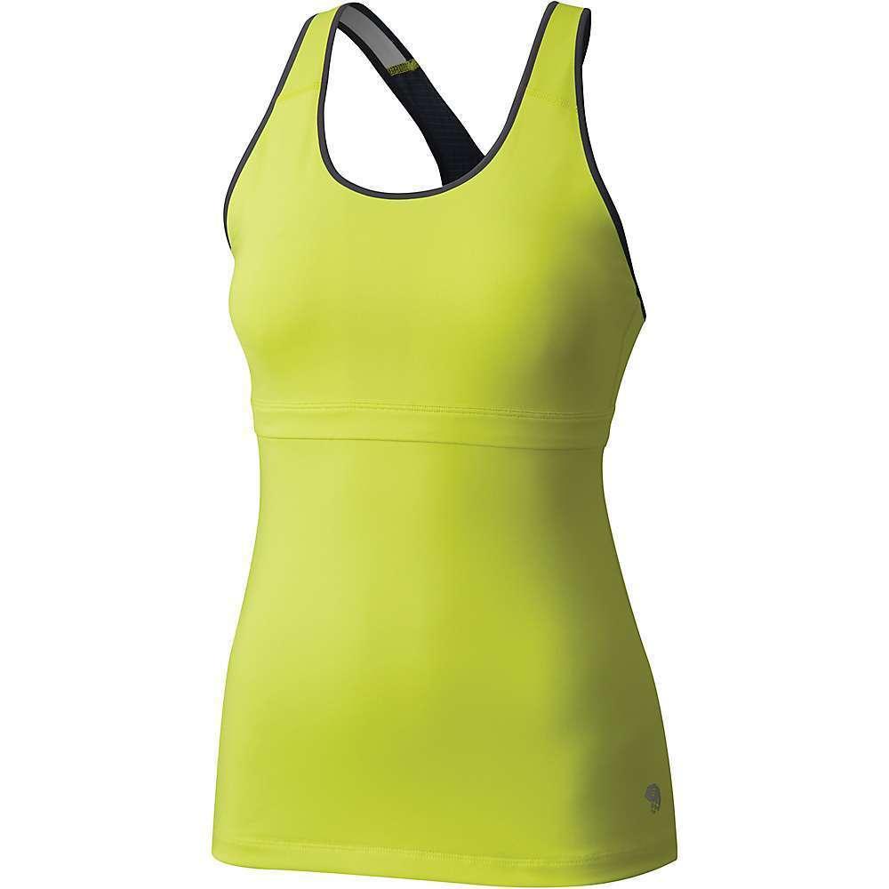 NWT Mountain Hardwear Women's Yellow Gray Small SYNERGIST TANK TOP