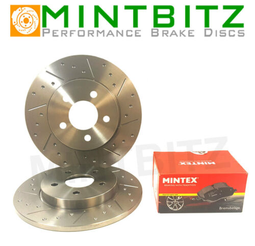Citroen Xsara Coupe 2.0 HDi VTR 02-04 Rear Brake Discs /& Pads Dimpled /& Grooved