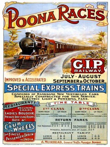 Gt Indian Peninsular Vintage Indian Railway poster reproduction