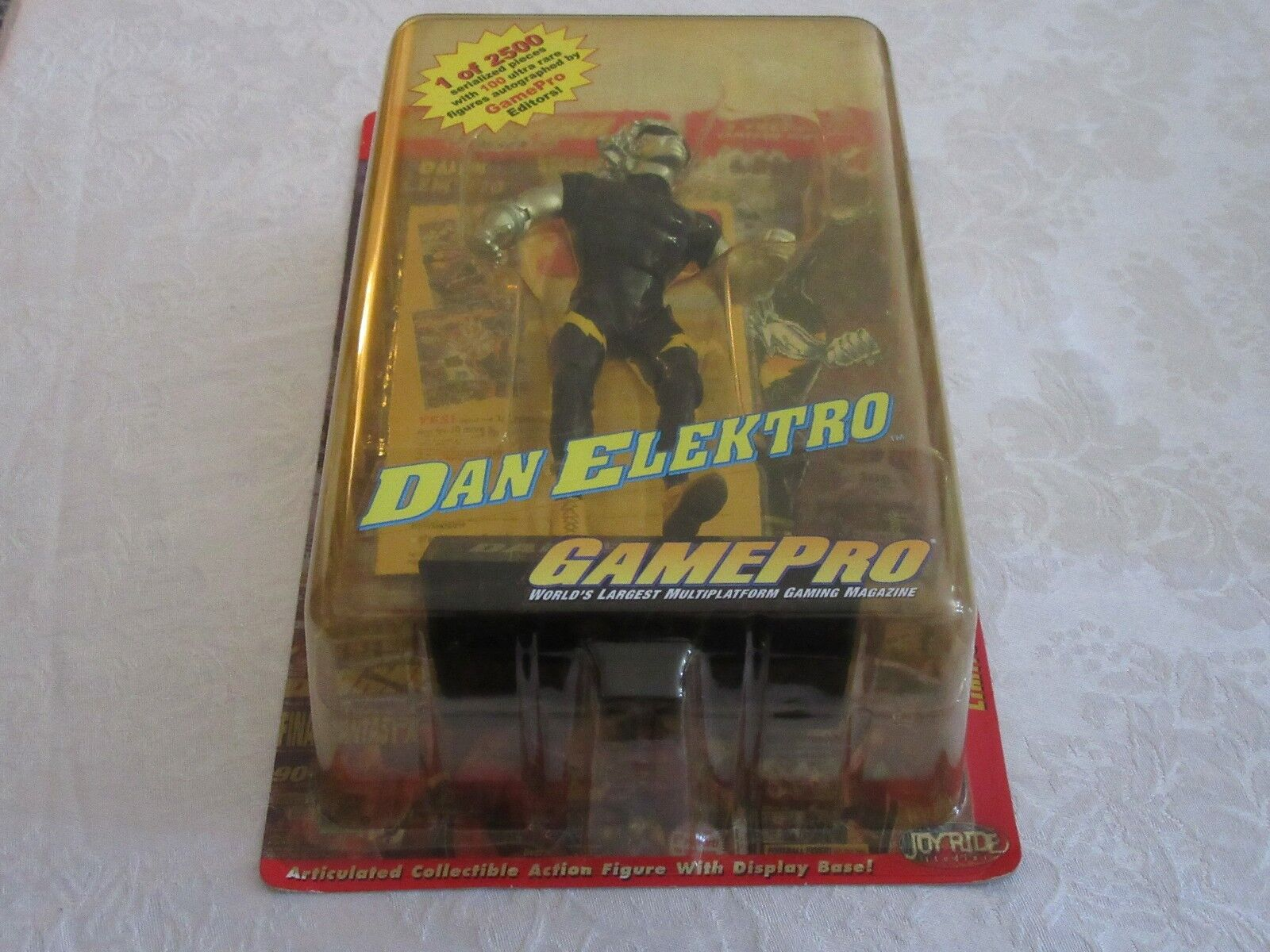 Joyride Studios Gamepro Dan Elektro Signed Series 4 45/100 Action Figure