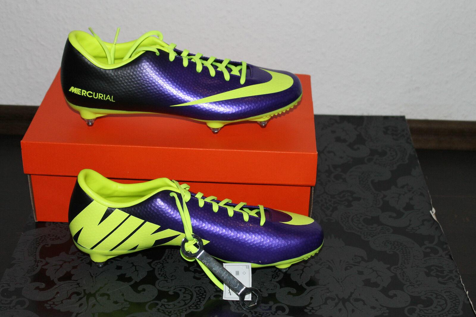 Nike MERCURIAL VICTORY fútbol galerías zapato púrpura amarillo tamaño 42,5; 8; us 9 nuevo