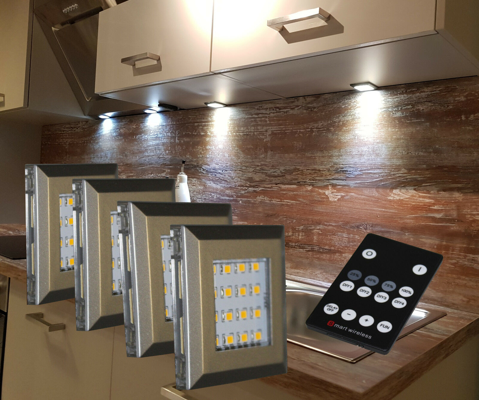 LED Unterbauleuchte Aufbauleuchte Fernbedienung möglich Möbelbeleuchtung 2115-16