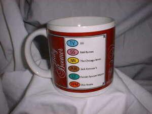 TRIVIAL-PURSUIT-Coffee-Mug-Game-Categories-Card-Ceramic-Vintage-1983-EUC-VHTF