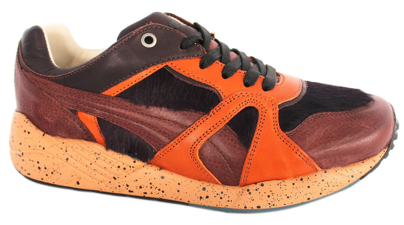 Puma Trinomic XS500 X Miitaly Mens Trainers Brown Made In Italy 357262 02 M10