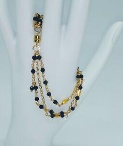 14k-Faceted-Blue-Sapphire-Multi-Strand-Bracelet