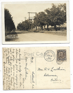 Grey-County-CHATSWORTH-ONTARIO-Toronto-St-1933-Chatsworth-Duplex-Cancel-on-back
