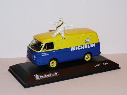 MICH10U voiture 1//43 IXO altaya MICHELIN FIAT camionnette 238 Bibendum