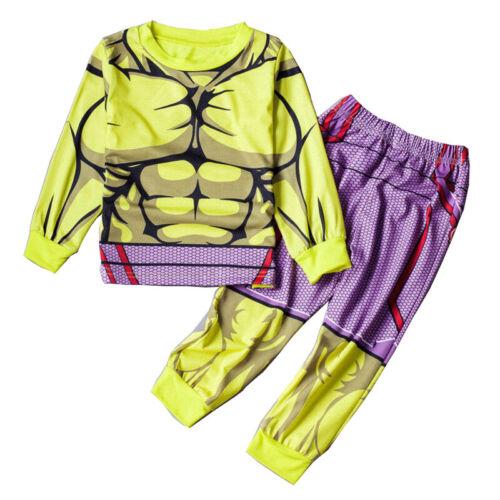 2Pcs//Set Kids Boys The Incredible Hulk Sleepwear Pajamas Pj/'s Matching Sets 1-8Y