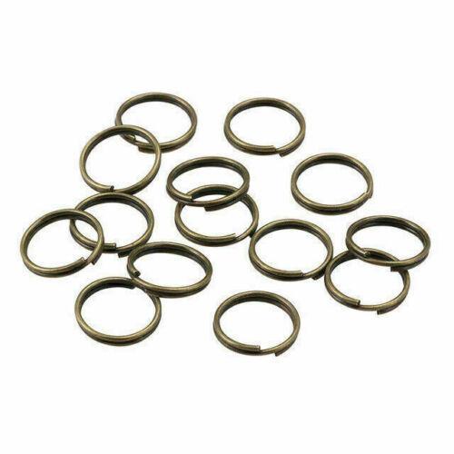 200pcs Open Jump Rings Double Loop Split Rings Connectors For DIY Jewelry Making