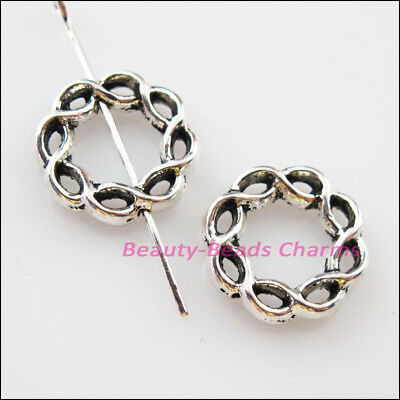 8 New Charms Oval Dots Spacer Frame Beads 14.5x19.5mm Tibetan Silver Tone