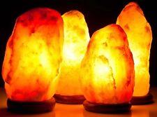 Lampada sale Himalaya Salt Lamp riequilibrante base cedro ionizzante 5 Kg circa