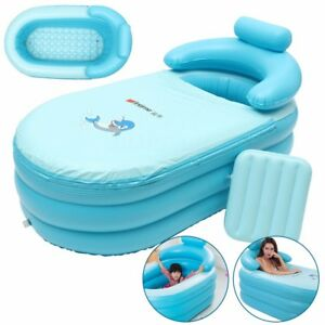 Portable Adult Child Warm Bathtub Inflatable Bath Tub Electric Air ...