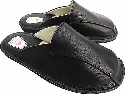 Hausschuhe - Latschen - Pantoffeln Gr.43, Echt LEDER, (Made in Poland 4-11-4-79)