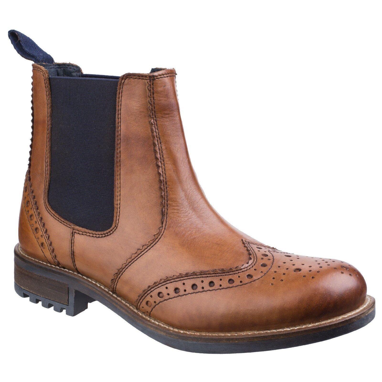 Cotswold CIRENCESTER CIRENCESTER CIRENCESTER Zapato Oxford Chelsea Cuero Hombre Punta de ala 694ab8