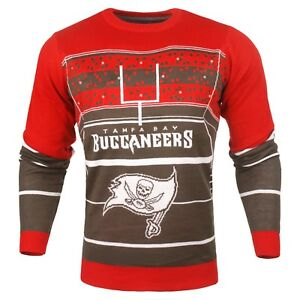 more photos ddca2 67df8 Details about Tampa Bay Buccaneers NFL Stadium Light-Up Ugly Sweater Mens  Small NWT