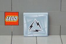 Alien on Dark Grey Triangle Print 3068bpx7 Lego Tile 2x2 Grooved - Black x4