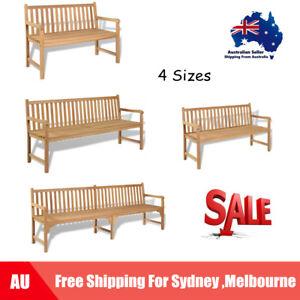 Teak Outdoor Bench Backyard Garden Patio Furniture Seat Multi Sizes