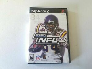 Play Station 2  Sega Sports NFL 2K2 Football Video Game Disc Case Manual