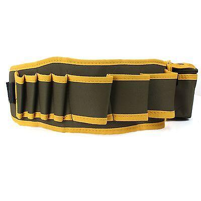 Hardware Mechanic's Canvas Tool Bag Belt Utility Kit Pocket Pouch Organizer New
