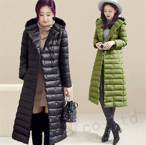3557071bf48 Image is loading Womens-Winter-Long-Outerwear-Duck-Down-Jacket-Puffer-