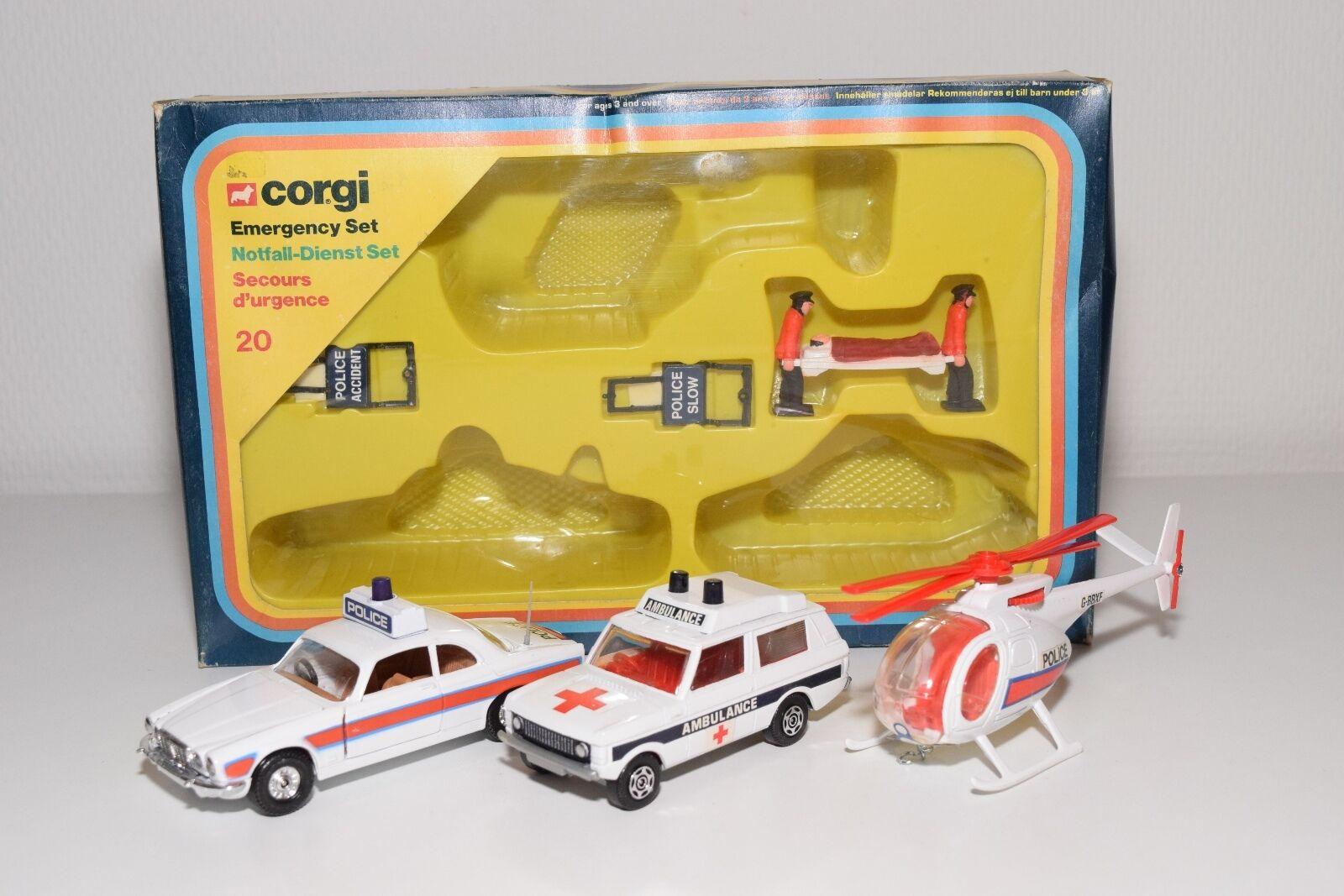 \ \ corgi spielzeug giftset geschenkset 20 notfall - set jaguar, range rover - boxen