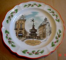 Wedgwood Collectors Plate CHRISTMAS 1982 PICCADILLY CIRCUS Boxed