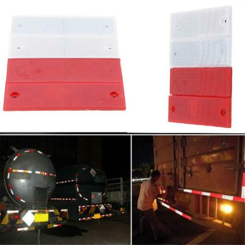 Car Reflective Truck Body Stickers Safety Stickers Red /& White Reflector LC