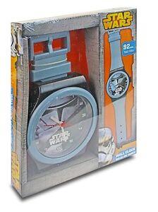"OFFICIAL NEW 10"" STAR WARS STORM TROOPER WALL CLOCK 92CM TALL BEDROOM CLOCK"