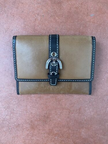 Coach Small Brown Buckle Detail Wallet