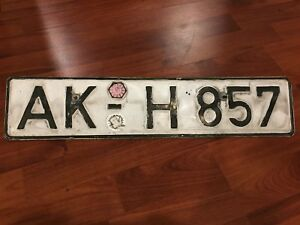 Vintage-GERMAN-DIN-LICENSE-PLATE-AK-H857-Altenkirchen-Westerwald-Rhine