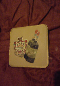 1960s PIERRE SMIRNOFF VODKA CREME DE CACAO BOLS DRINKS MAT COASTER CORK BACK