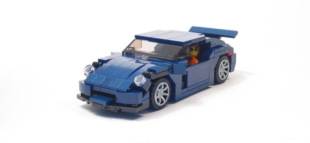 Lego Custom Dark Blue 911 GT3 Sports Car City Town