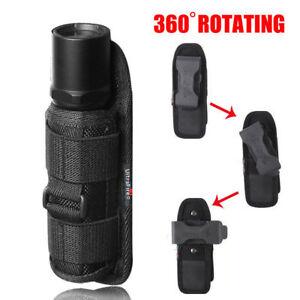 360-Degrees-Rotat-Torch-Flashlight-Nylon-Pouch-Holster-Belt-Carry-Case-Holder-SA