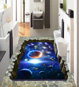 3D Papel De Parojo Universo Planet 974 Piso Impresión De Parojo Murales Wallpaper AJ Reino Unido Limón