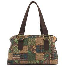 Donna Sharp Leah Handbag//Shoulder Bag in Mocha Patch Pattern SALE! 35/% OFF!