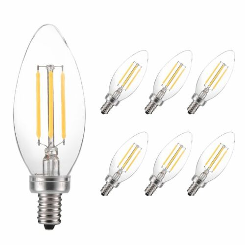 5W B11 500LM LED Filament Bulb Less Energy Dimmerable Candle Bulb 1pc//6pc
