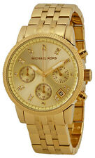 Michael Kors MK5676 Ritz Champagne Dial Gold Tone Chronograph Women's Watch