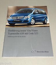 Einführungsschrift / Technische Info Mercedes  Vito / Viano W 639 XZ1 Stand 2010