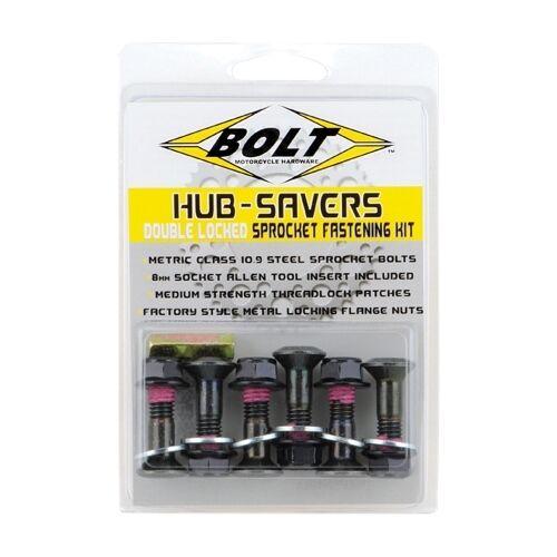 Bolt Black Double Locked Sprocket Fastener Bolt Kit 2008-HS.B