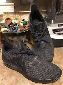 mujer Sequent M Nuevo Sz Nike de 3 antracita Zapatillas Max running Negro 8 para air Uq8wPB