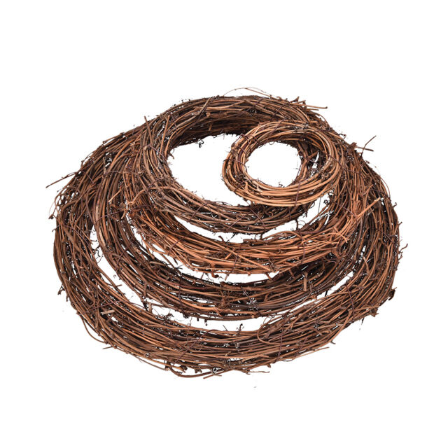 Christmas Natural Dried Rattan Wreath Xmas Garland Home Door Wall DIY D BSC