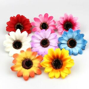 10-100pcs-Silk-Sunflower-Artificial-Fake-Flower-Heads-Wedding-Bouquet-DIY-Decor
