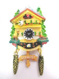 Schwarzwald Kuckucksuhr Magnet Poly Souvenir Germany Titisee Freiburg