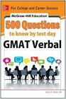 McGraw-Hill Education 500 GMAT Verbal Questions to Know by Test Day by Kathy A. Zahler (Paperback, 2014)