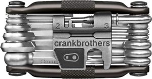 Silver No Case Crank Brothers M19 Bike Maintenance Multi Tool 19 Functions