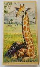 Wood Backed Rubber Stamp Huge Giraffe Grasslands ' Solemnity ' Stamps Happen Inc