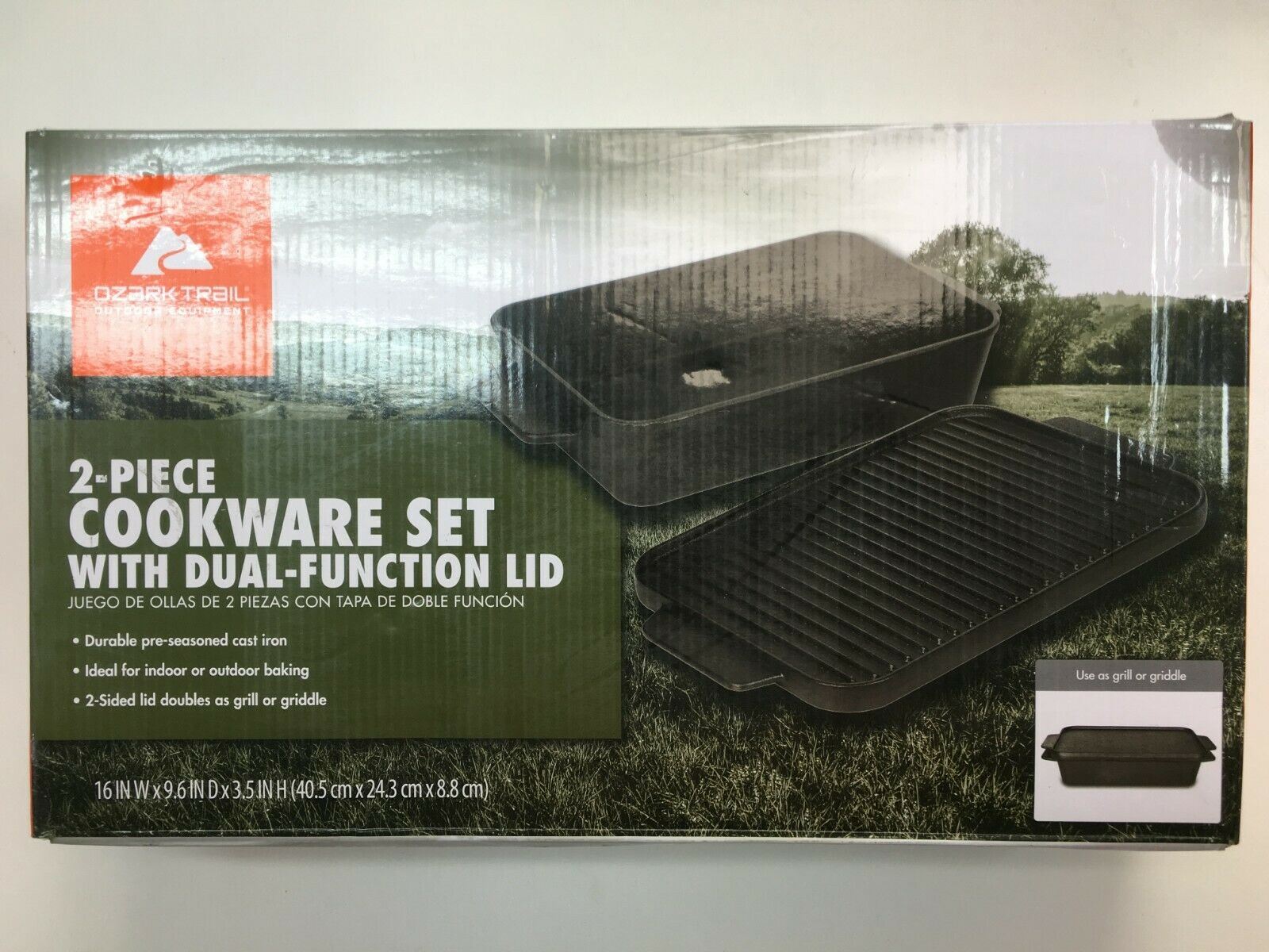 OZARK TRAIL OUT DOOR EQUIPMENT ( 2 - PIECE  COOKWARE SET0 WITH DUAL-FUNCTION LID  retail stores